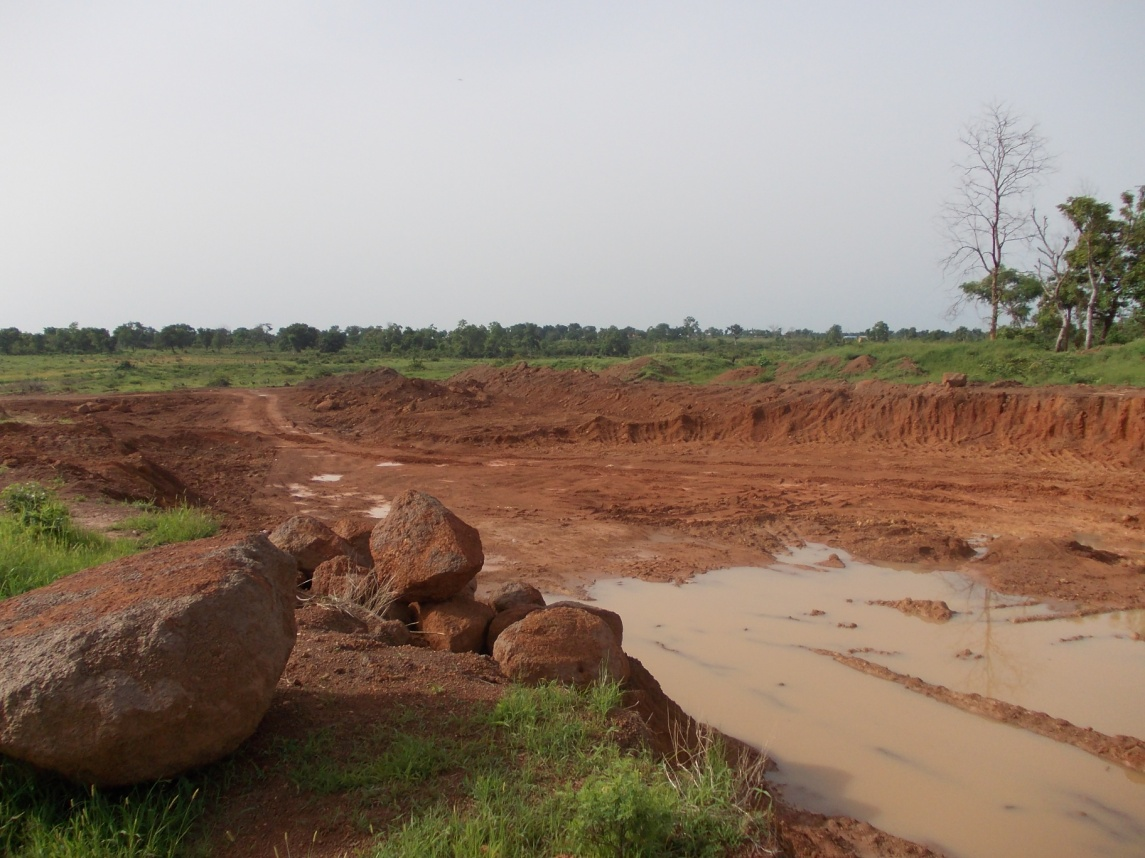 Excavated Spillway approach channel for the Eu Bago Dam Project