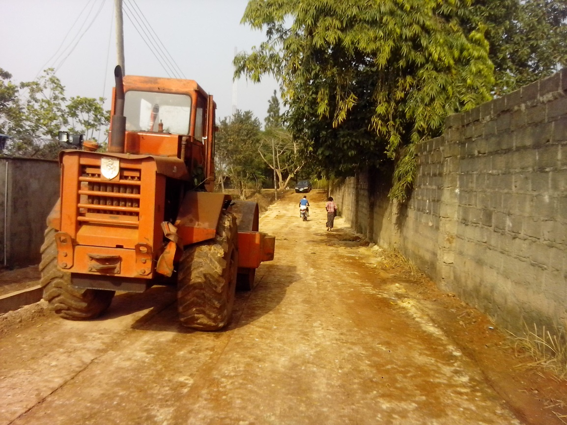 Compaction of Sub-base material on the Ikom township road